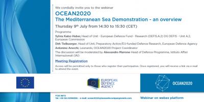 OCEAN2020 – The Mediterranean Sea Demonstration – an overview