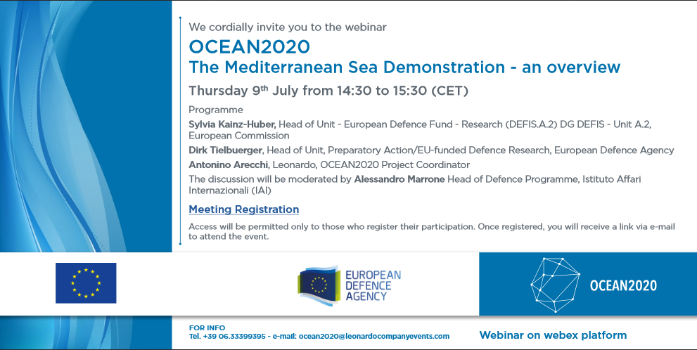 OCEAN2020 – The Mediterranean Sea Demonstration – an overview