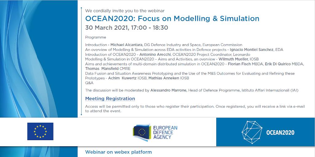 "OCEAN2020 Webinar: ""Focus on Modelling & Simulation"""