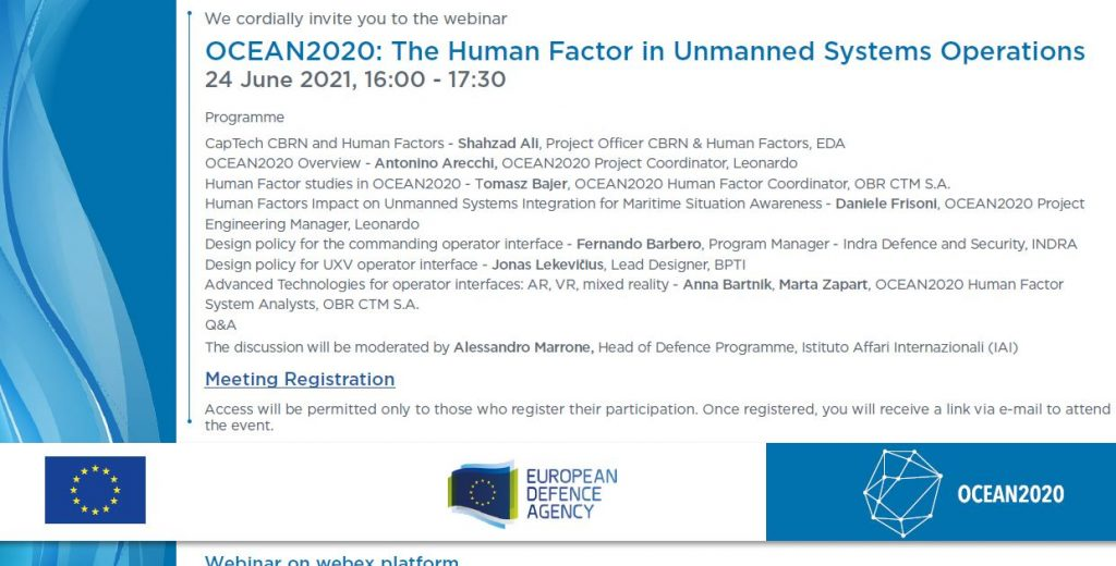 OCEAN2020: the Human Factor in Unmanned Systems Operations